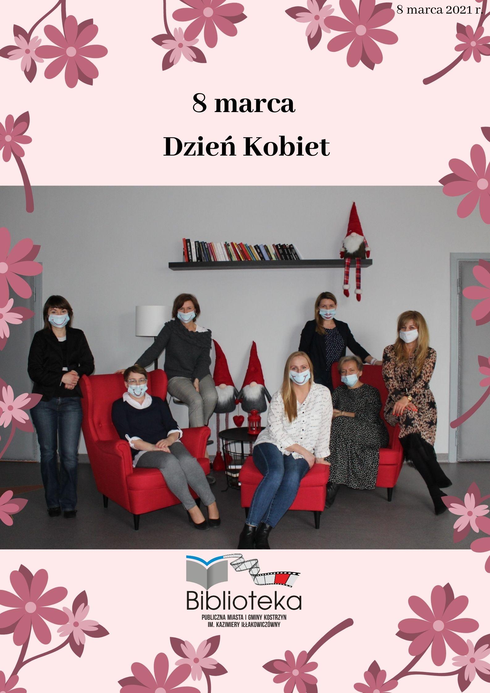 na-zdjeciu-7-pracownic-biblioteki-i-napis-8-marca-dzien-kobiet