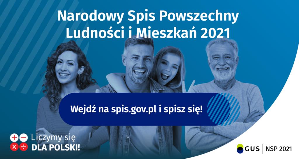 plakat spis powszechny ludności 2021